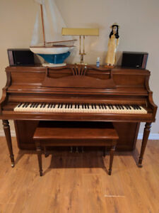 Willis and Co upright apartment piano