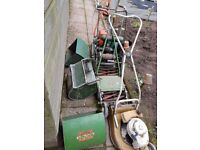 Four Old lawnmowers Qualcast vintage mowers £150