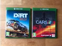 Dirt Rally and Project Cars for xbox
