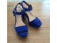 Cobalt blue platform heels