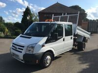 Ford transit tipper crew cab 2011 63,000 miles warranted 1 owner