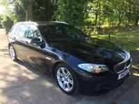 BMW 5 SERIES 2.0 520D M SPORT TOURING 5d 181 BHP FULL BMW HISTO (black) 2012