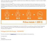 50$ en vous ouvrant votre premier compte Tangerine