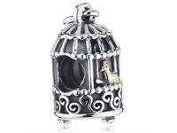 Authentic Pandora Charm - Golden Nightingale - Silver & 14K Gold - #791114