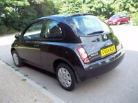 Nissan micra automatic, full service history, hpi clear, low mileage (47000 miles).