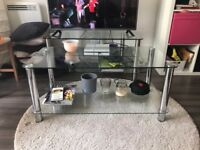 LIKE NEW GLASS and STEEL Coffee table