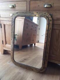 Beautiful brass porthole mirrors