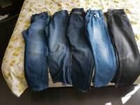 5 pairs of boys jeans age 9-10