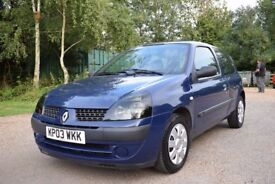 2003 Renault Clio 1.2 16V Expression 3dr, 87k miles, Excellent Throughout