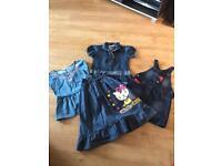 Denim dresses and shirts
