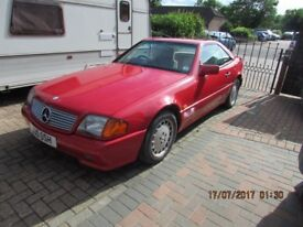 1992 Mecedes 300SL for repair, Hard Top, Private Plate.