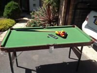 Football table and snooker table