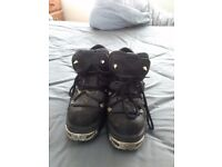 Spiked new rock boots size 9
