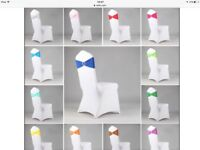 Wedding chair covers and bows or stretch bands for as little as 99p! Set up free!