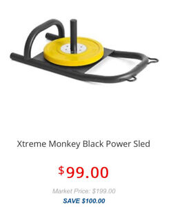 NEEDS TO GO- Xtreme Monkey Black Power Sled + harness