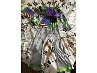 Buzz light year 7-8 dress up with hood and inflatable wings. Great condition