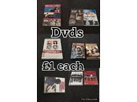 Dvds various types