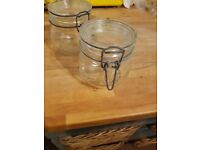 Mason jars - Glass storage preserving jars various sizes