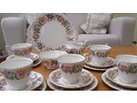 Vintage Bone China Paragon Country Lane 18 Piece Tea Set