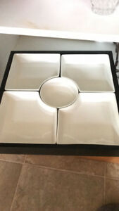 Platter, crystal platter, plate, princess house baskets