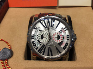 ROGER DUBUIS EXCALIBUR 18KT GOLD TRIPLE TIME ZONE -LIM.EDITION