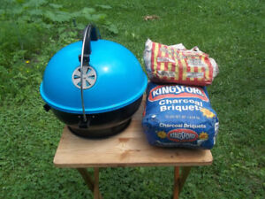 "Portable 14"" Diameter Charcoal BBQ, Charcoal Included, Vented"