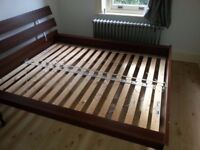 Ikea Hopen Double Wooden Bed Frame only - Excellent condition