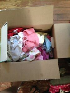 Box of baby girl clothes size 0-3 months