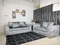 (EXPRESS DELIVERY) BRAND NEW STYLISH JULIE CRUSH VELVET CORNER SOFA AND 3+2