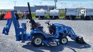 Brand New LS MT125 '' PACKAGE '' TRAILER, MOWER, AND BACKHOE ''
