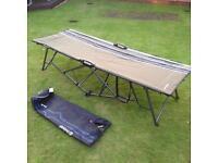 Outwell camp bed, mattress, compressor