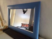 Mirror in Farrow & Ball Cook's Blue 30/20 inch