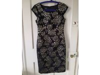 Hobbs Black / Gold Dress Size 10