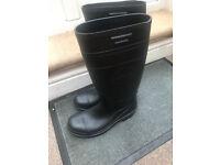 Safemaster Unisex Safety Black Full Length Slip on Wellington Boots