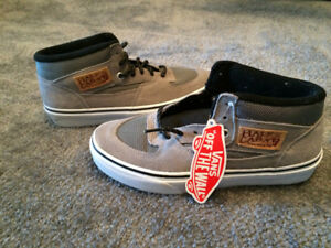 Vans Half Cab Shoes - Men's 6.5(/Womens 8) - Grey (Wild Dove)