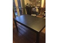 QUICK SALE TODAY! IKEA BJURSTA TABLE (MID BROWN)