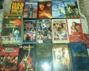 VHS fantasy action movies for sale