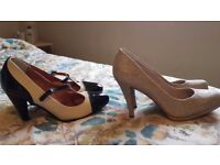 2 pairs of ladies shoes in excellent condition
