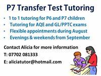Transfer Test Tutoring