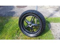 Triumph Sprint ST rear wheel with tyre