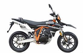 SINNIS Apache SMR 125cc. Supermoto. Learner Legal. Road Bike