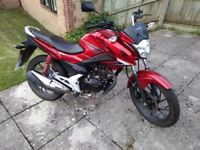 Honda cbf125 fuel injected model, low mileage