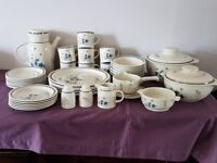 Vintage Royal Doulton Lambethware Hill Top Dinner Set - 41 items