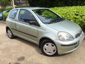 2002 TOYOTA YARIS GLS 1.4 3 DOOR HATCHBACK. DIESEL