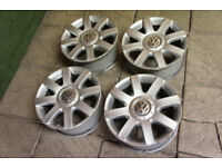 "Genuine VW Golf MK5 16"" Alloy wheels 5x112 Passat T4 Audi A3 A4 Touran Caddy"