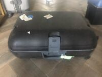 Small black suitcase hard shell