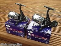 2 Brand New NGT RS20 Black Fishing Reels With 8LB Line