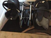 Maxi -Cosi Elea Pushchair (black) & Maxi -Cosi Cabriofix Baby car seat