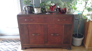 Antique buffet with original key to lock