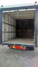 Box trailer box size = 10.5 long x 7 x 7 (feet)